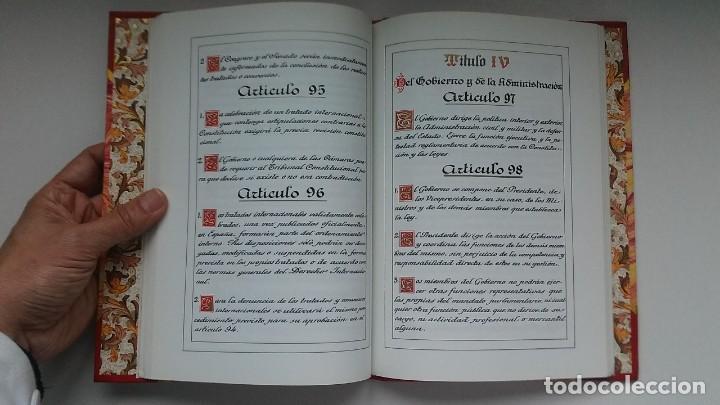 Libros antiguos: Constitución Española 1978 [Facsímil]/ Congreso de los Diputados; Senado ¡Encuadernación artesanal! - Foto 17 - 194154456