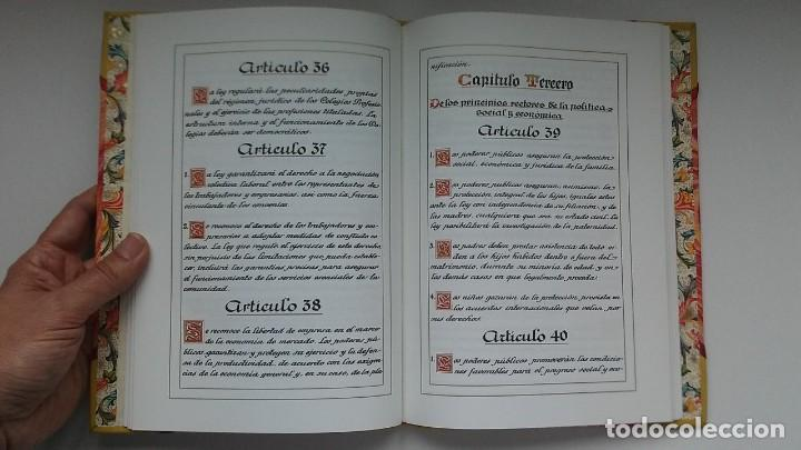 Libros antiguos: Constitución Española 1978 [Facsímil]/ Congreso de los Diputados; Senado ¡Encuadernación artesanal! - Foto 24 - 194154456