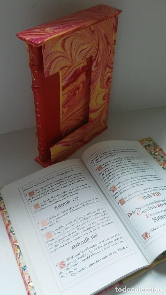 Libros antiguos: Constitución Española 1978 [Facsímil]/ Congreso de los Diputados; Senado ¡Encuadernación artesanal! - Foto 29 - 194154456