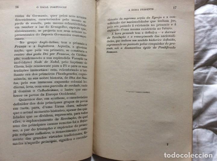Libros antiguos: El ideal portugués. Bases para la reorganización tradic. de la nación portuguesa, 1917. Envio grátis - Foto 6 - 194224446