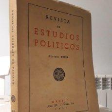 Libros antiguos: LIBRO REVISTA DE ESTUDIOS POLÍTICOS AÑO 1951. Lote 194392200
