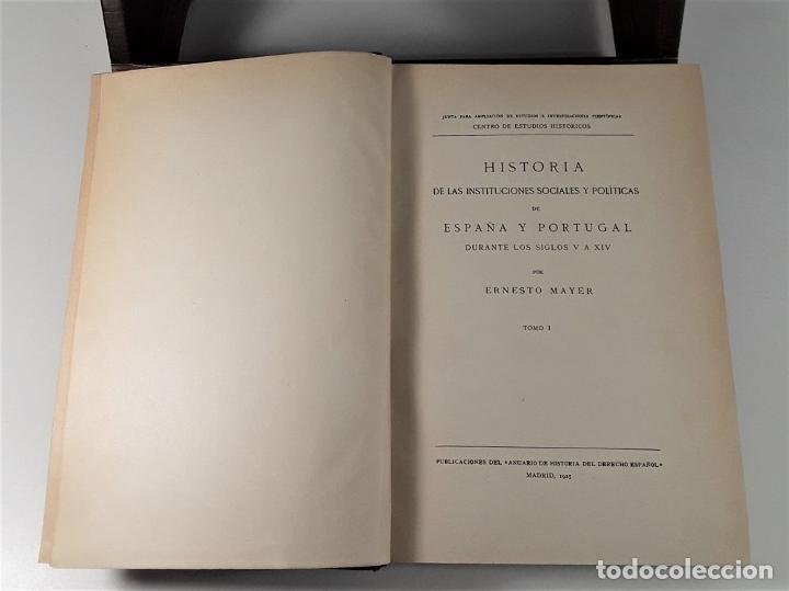 Libros antiguos: HISTORIA DE LAS INSTITUCIONES SOCIALES Y POLÍTICAS. 2 TOMOS EN 1 VOLUM. 1925/26. - Foto 10 - 185973045