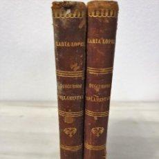 Libros antiguos: DISCURSOS PARLAMENTARIOS, 1856, JOAQUÍN MARÍA LÓPEZ, TOMOS 2 Y 5. Lote 194648215