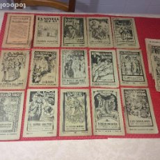 Libros antiguos: LA NOVELA IDEAL - PUBLICACION REVOLUCIONARIA Y ANARQUISTA - AÑO 1928 - LOTE ALMANAQUE Y 14 NÚMEROS. Lote 194738697