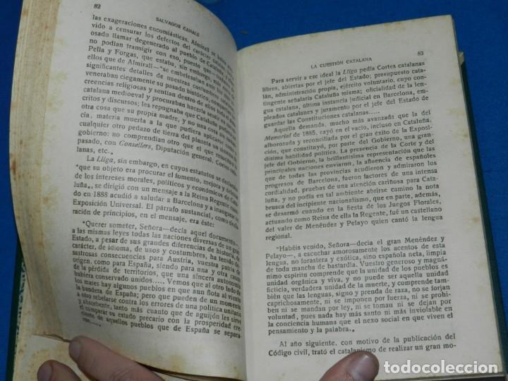 Libros antiguos: (MF) SALVADOR CANALS - LA CUESTIÓN CATALANA DESDE EL PUNTO DE VISTA ESPAÑOL, MADRID 1919 - Foto 2 - 195201955