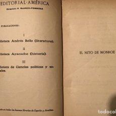 Libros antiguos: EL MITO DE MONROE. CARLOS PEREYRA. EDITORIAL AMERICA. Lote 195231225