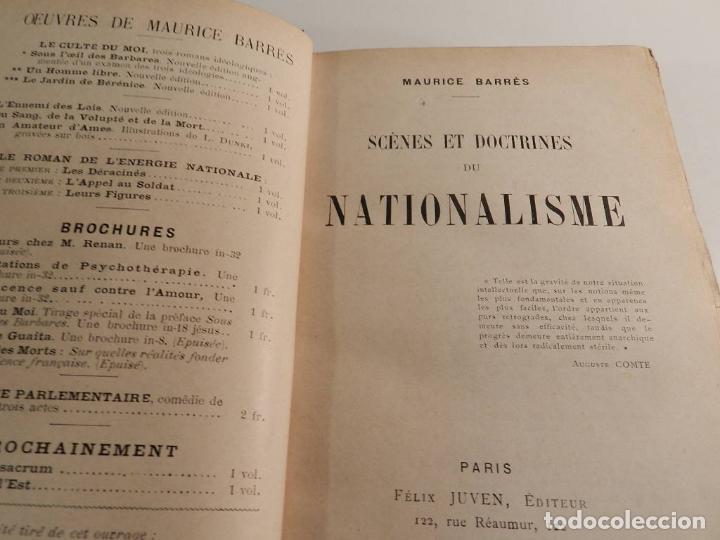 MAURICE BARRES ?SCÈNES ET DOCTRINES DU NATIONALISME? ?PARIS 1902.EN PIEL CASO DREYFUS - EXLIBRIS (Libros Antiguos, Raros y Curiosos - Pensamiento - Política)