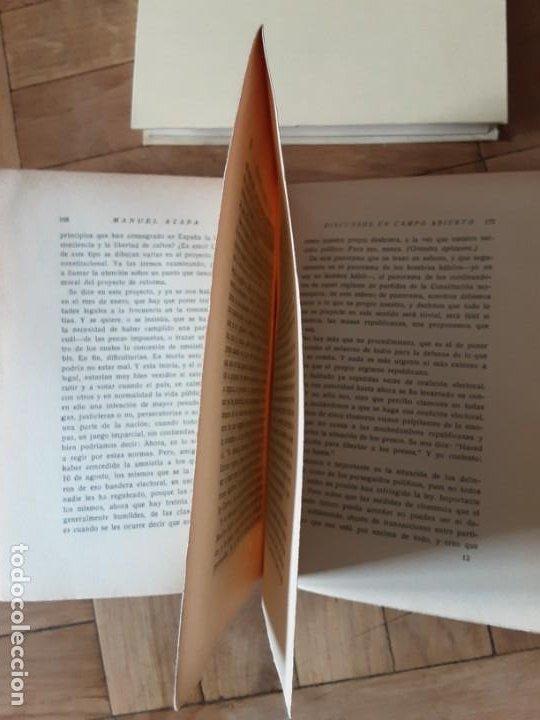 Libros antiguos: DISCURSOS EN CAMPO ABIERTO. MANUEL AZAÑA. MADRID 1936. EDITORIAL ESPASA CALPE - Foto 7 - 196158280