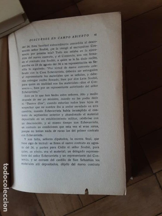 Libros antiguos: DISCURSOS EN CAMPO ABIERTO. MANUEL AZAÑA. MADRID 1936. EDITORIAL ESPASA CALPE - Foto 11 - 196158280