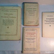 Libros antiguos: II REPÚBLICA: ESTATUTO CATALÁN (4 PUBICACIONES). Lote 196277518