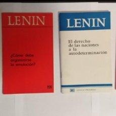 Libros antiguos: LOTE DE 4 LIBRILLOS. GAGARIN Y GIRON. LENIN, LA BANCARROTA DE LA II INTERNACIONAL ETC. Lote 198949280