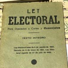 Libros antiguos: LEY ELECTORAL PARA DIPUTADOS A CORTES Y CONCEJALES 1933. Lote 199735523