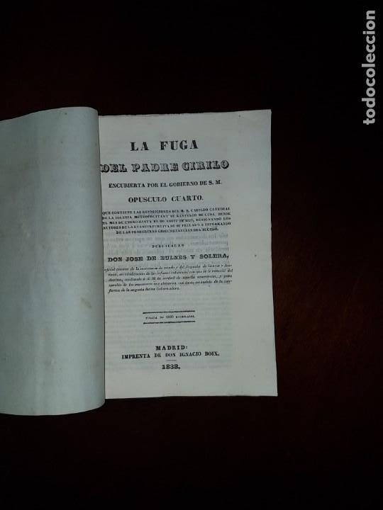 LA FUGA DEL PADRE CIRILO, ENCUBIERTA POR EL GOBIERNO DE S.M. - 1838 (Libros Antiguos, Raros y Curiosos - Pensamiento - Política)