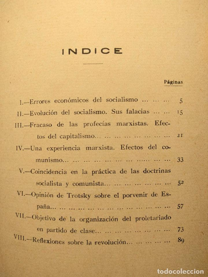 Libros antiguos: ¿Socialismo? ¿Comunismo? ¡La dictadura del proletariado! José Ignacio Escobar. Madrid. 1931. - Foto 3 - 203296462