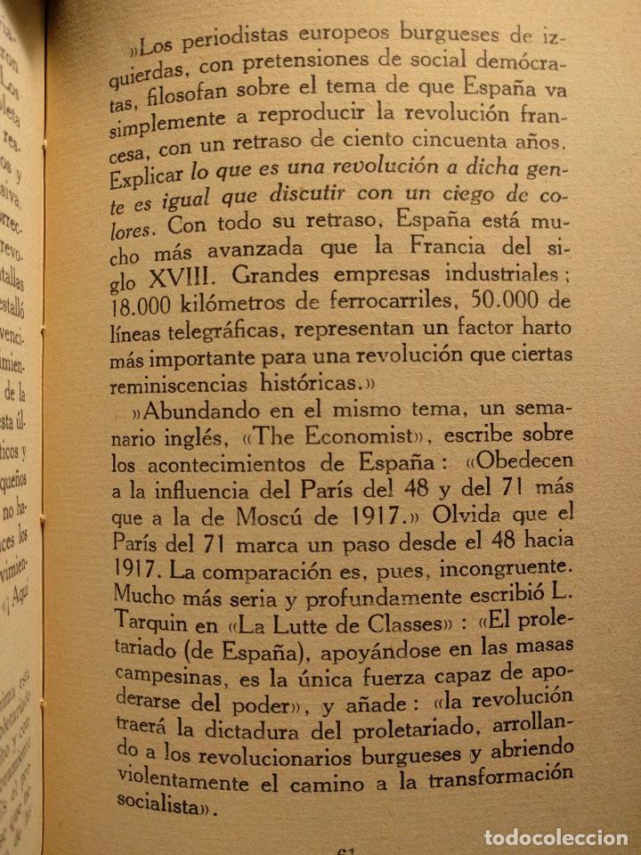 Libros antiguos: ¿Socialismo? ¿Comunismo? ¡La dictadura del proletariado! José Ignacio Escobar. Madrid. 1931. - Foto 4 - 203296462