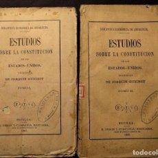 Libros antiguos: ESTUDIOS SOBRE LA CONSTITUCIÓN DE LOS ESTADOS - UNIDOS. GUICHOT. [1ª EDICIÓN.] 1869.. Lote 203296942