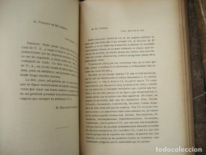 Libros antiguos: don Juan Donoso Cortes obras escogidas Volumen I y II ensayo catolicismo socialismo liberalismo 1903 - Foto 4 - 204632778