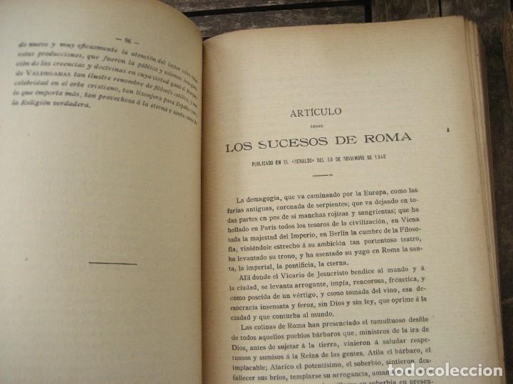 Libros antiguos: don Juan Donoso Cortes obras escogidas Volumen I y II ensayo catolicismo socialismo liberalismo 1903 - Foto 5 - 204632778