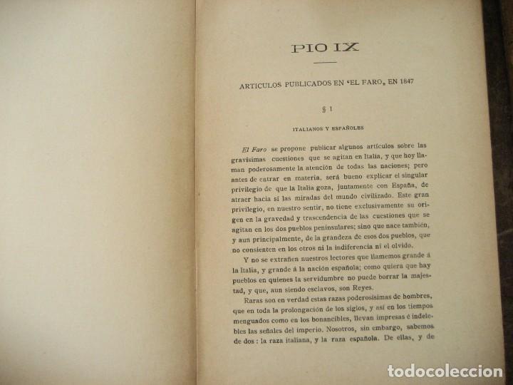 Libros antiguos: don Juan Donoso Cortes obras escogidas Volumen I y II ensayo catolicismo socialismo liberalismo 1903 - Foto 6 - 204632778