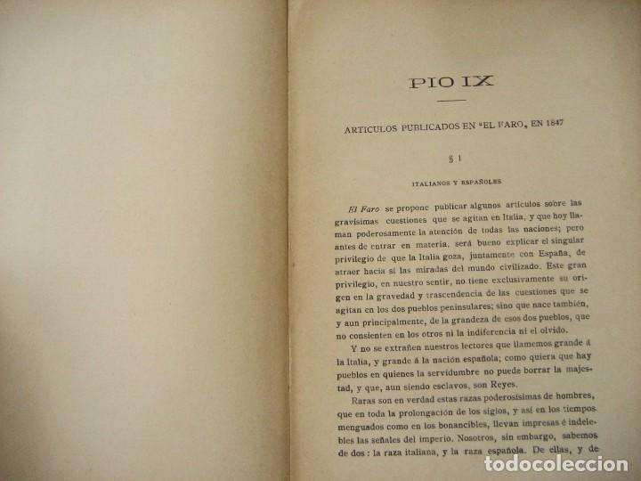 Libros antiguos: don Juan Donoso Cortes obras escogidas Volumen I y II ensayo catolicismo socialismo liberalismo 1903 - Foto 8 - 204632778