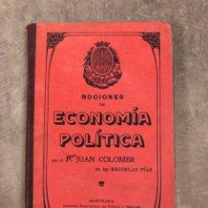 Libros antiguos: NOCIONES DE ECONOMÍA POLÍTICA 1905. Lote 204650233