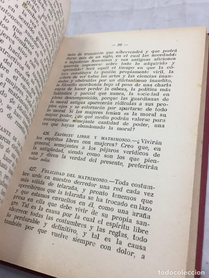 Libros antiguos: Humano, demasiado humano Federico Nietzsche Tomo Segundo sello de Juventudes Libertarias Llano Besos - Foto 6 - 204709885