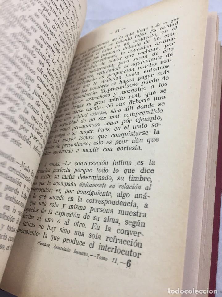 Libros antiguos: Humano, demasiado humano Federico Nietzsche Tomo Segundo sello de Juventudes Libertarias Llano Besos - Foto 9 - 204709885