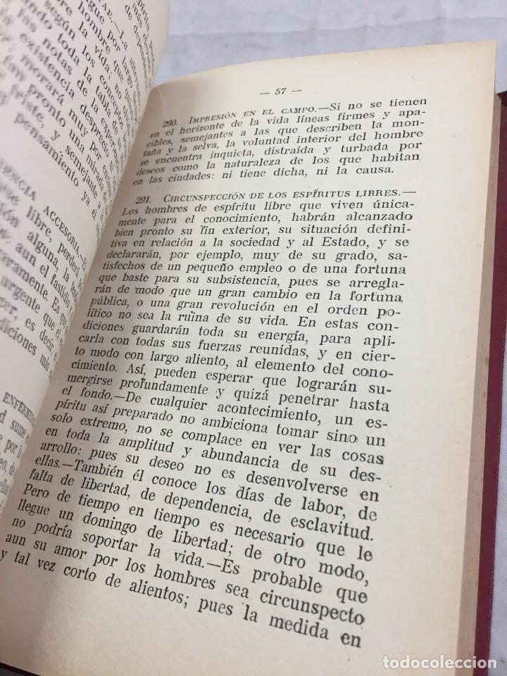 Libros antiguos: Humano, demasiado humano Federico Nietzsche Tomo Segundo sello de Juventudes Libertarias Llano Besos - Foto 11 - 204709885