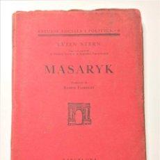 Libros antiguos: MASARYK - EVZEN STERN - 1929 - EN CATALÀN.TIRADA LIMITADA 50 EJEMP.. Lote 204818567