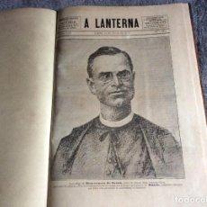 Libros antiguos: A LANTERNA. SEMANÁRIO POLITICO DIRIGIDO POR PAULO EMÍLIO. LOTE CON 17 REVISTAS ENCUADERN. AÑO 1910. Lote 205687775