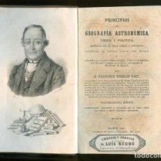 Livres anciens: NUMULITE * PRINCIPIOS DE GEOGRAFÍA ASTRONÓMICA FÍSICA Y POLÍTICA D. FRANCISCO VERDEJO PAEZ 1865. Lote 205875420