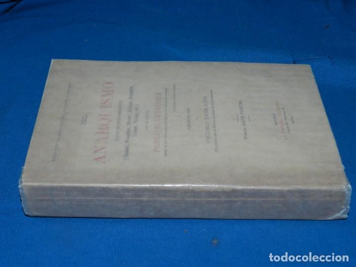 Libros antiguos: (MF) PABLO ALTZBACHER - EL ANARQUISMO SEGÚN SUS MÁS ILUSTRES GODWIN, PROUDHON, MADRID 1901 - Foto 3 - 206227811