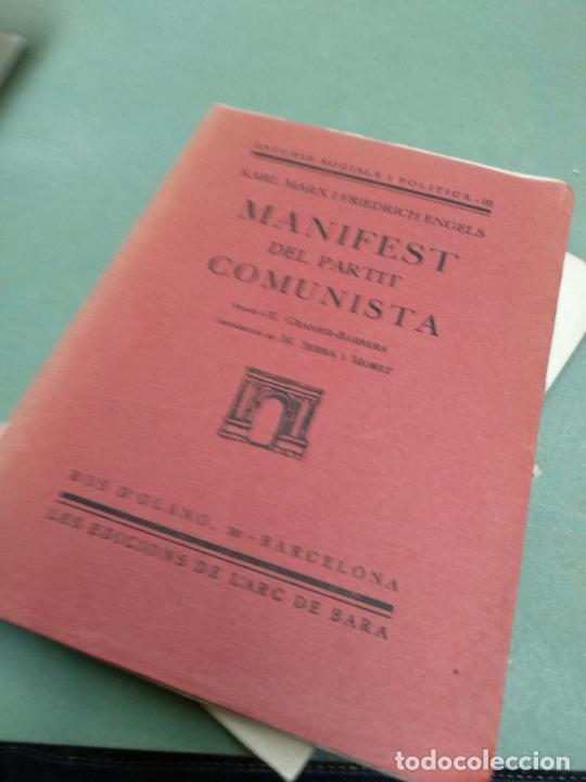 MANIFEST DEL PARTIT COMUNISTA. - KARL MARX / FRIEDRICH ENGELS. 1930. (Libros Antiguos, Raros y Curiosos - Pensamiento - Política)