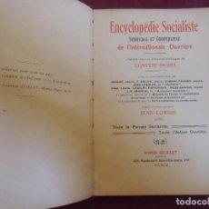 Libros antiguos: ENCYCLOPEDIE SOCIALISTE/UN PEU D´HISTOIRE/COMPERE-MOREL,JEAN LORRIS/PARIS 1912.. Lote 207223346