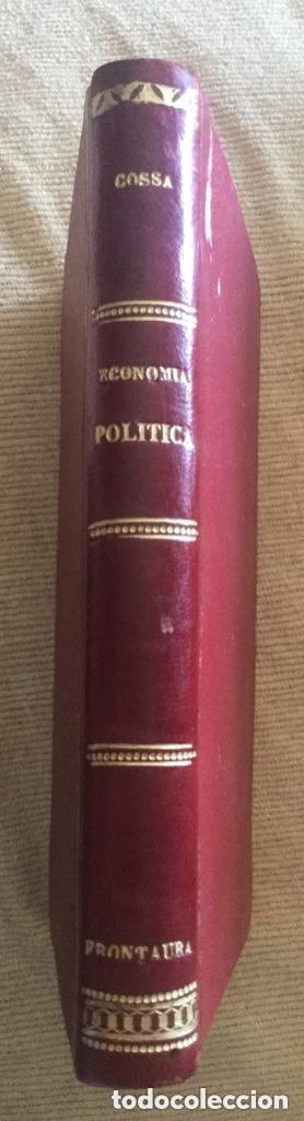 Libros antiguos: Guia ECONOMIA POLITICA - L. Cossa - 1884 Valladolid - 2ª Ed. - 275p. 18,5x13cm - Foto 2 - 208777241