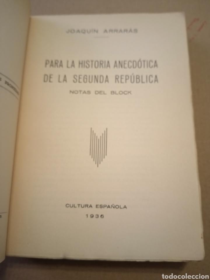 Libros antiguos: 1936 Notas del Block Joaquín Arrarás - Foto 2 - 208777991