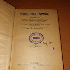 Libros antiguos: CÓDIGO CIVIL ESPAÑOL. 1930.. Lote 210165823