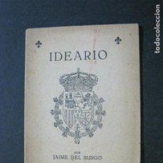 Libros antiguos: IDEARIO POR JAIME DEL BURGO-LIBRITO-SEN SEBASTIAN FIESTA DE LOS MARTIRES-VER FOTOS-(V-21.066). Lote 210250045