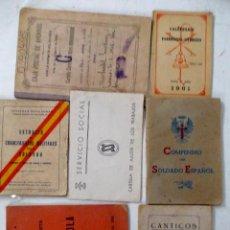 Libros antiguos: LOTE DE 7 LIBRITOS RAROS VARIADOS. MILITARES Y POLITICOS. Lote 211618110