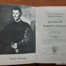 Libros antiguos: 1966 EL PRÍNCIPE - MAQUIAVELO / CRISOL AGUILAR Nº 86. Lote 211741632