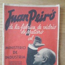 Livros antigos: C.N.T A.I.T COMITÉ NACIONAL SECCIÓN INFORMACIÓN. OPÚSCULO. DE LA FABRICA DE VIDRIO DE MATARO. 1937. Lote 211770596