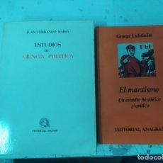 Libros antiguos: LOTE DE LIBROS POLÍTICOS EL MARXISMO Y ESTUDIOS CIENCIA POLÍTICA. Lote 212383491