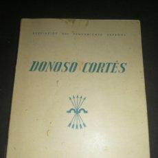 Libros antiguos: AÑO 1938,BREVIARIOS DEL PENSAMIENTO ESPAÑOL, DONOSO CORTES. CON EX-LIVRIS PROPIETARIO.. Lote 212804091