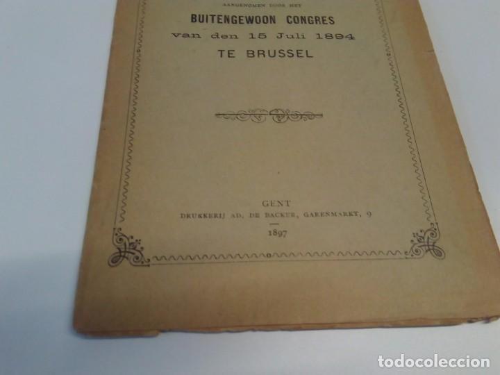 Libros antiguos: Programma-der-Belgische-Werklieden-Partij-Butengewoon Congress 1894 - Foto 3 - 216510216