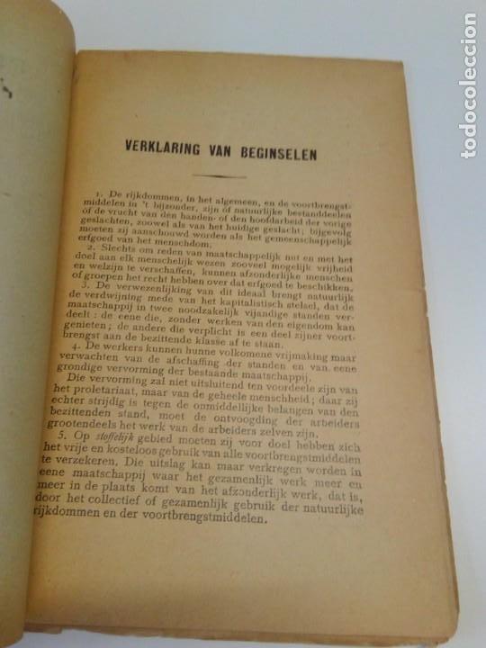 Libros antiguos: Programma-der-Belgische-Werklieden-Partij-Butengewoon Congress 1894 - Foto 4 - 216510216
