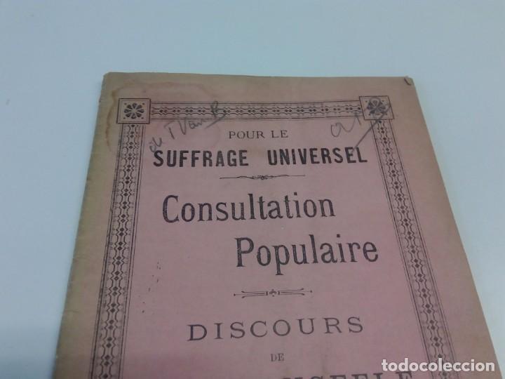 Libros antiguos: Pour le Suffrage Universel. Consultation Populaire. Anseele et Demblon 1901 - Foto 2 - 216577473