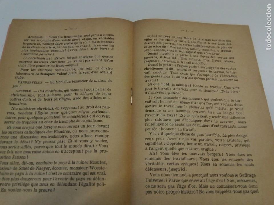 Libros antiguos: Pour le Suffrage Universel. Consultation Populaire. Anseele et Demblon 1901 - Foto 6 - 216577473