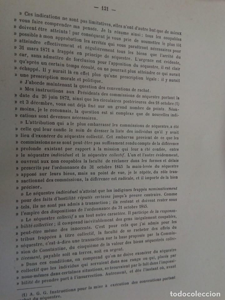 Libros antiguos: L C Dominique - Un Gouverneur Général De LAlgérie: LAmiral De Gueydon - 1908 - Foto 13 - 216577985