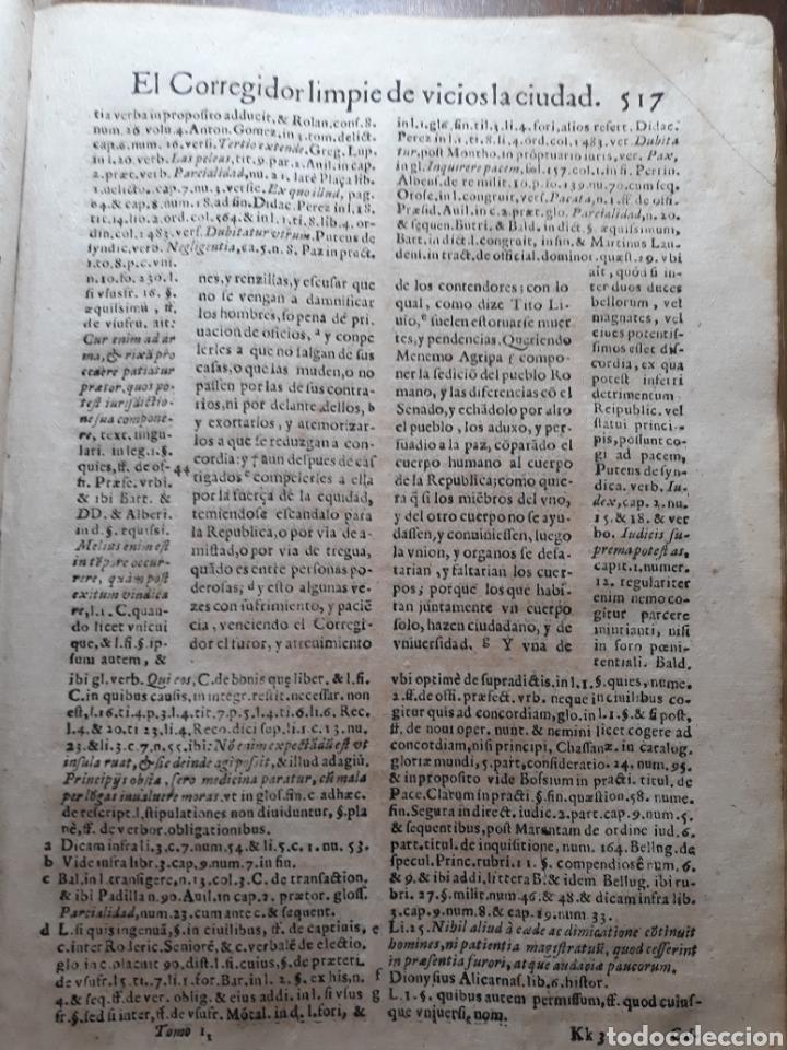 Libros antiguos: POLÍTICA PARA CORREGIDORES Y SEÑORES VASSALLOS ...TOMO PRIMERO .AÑO 1649 .LICENCIADO CASTILLO. - Foto 10 - 217924500