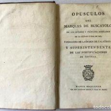 Libros antiguos: OPÚSCULOS DEL... DE LOS SEÑORES Y PRÍNCIPES DE LA CIUDAD E ISLA DE XIO. - BUSCAYOLO, MARQUÉS DE.. Lote 123168736